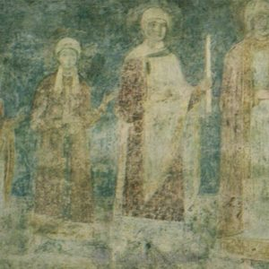 The family of Yaroslav the Wise. Fresco. Sophia Cathedral, 1973