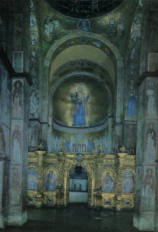 The interior of the cathedral. pasidu to look. Sophia Cathedral, 1973