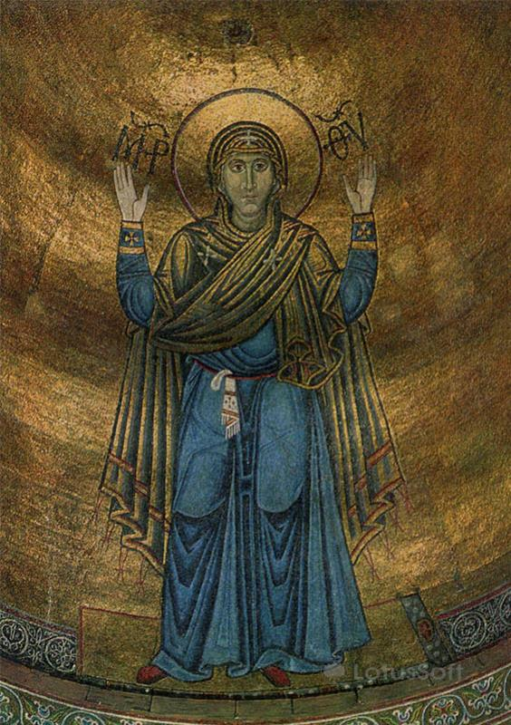 Oranta. Mosaic. Sophia Cathedral, 1973