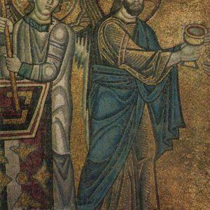 Evharstiya. Mosaic, right-hand side). Sophia Cathedral, 1973