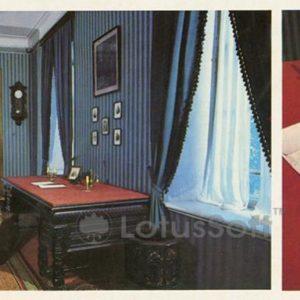 """Cabinet Nekrasov. Desk poet. Museum-Estate NA Nekrasov """"Karabikha"""", 1983"""