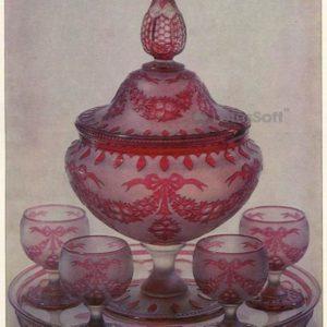 Jorum, glasses, tray, 1987