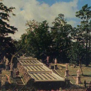 """Cascade """"Chess mountain"""". Peterhof, 1971"""