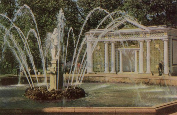 """Adam"" fountain. Peterhof, 1971"