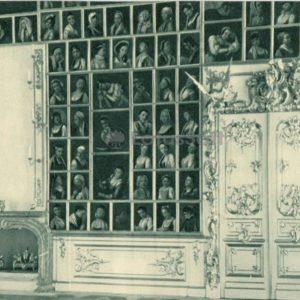 Grand Palace. Portrait hall. Peterhof, 1970