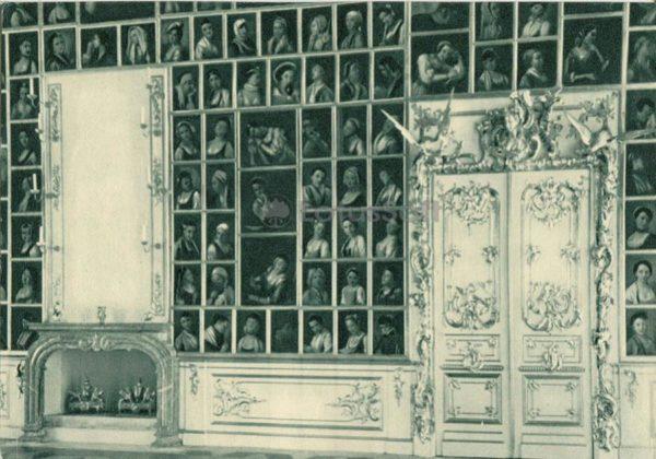 Большой дворец. Портретный зал. Петродворец, 1970 год