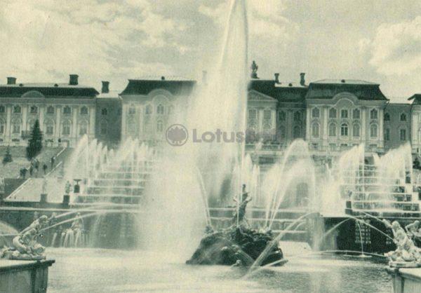 Ковш Большого каскада. Петродворец, 1970 год