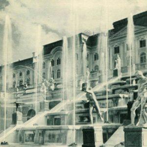Большой каскад. Западная водопадная лестница. Петродворец, 1970 год