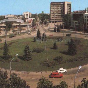 Площадь имени В.В. Куйбышева. Симферополь, 1984 год