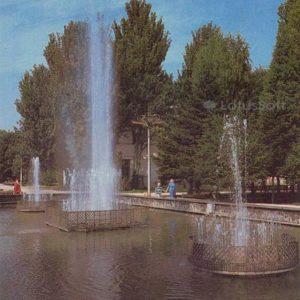 Сквер им. Тренева. Фонтаны. Симферополь, 1984 год
