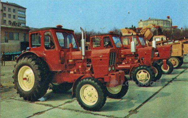 Продукция Минского тракторного завода. Минск, 1980 год