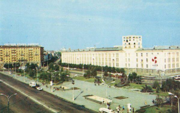 Площадь Якуба Коласа. Минск, 1980 год