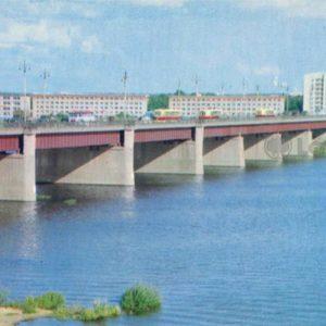 Мост через реку Воронеж. Липецк, 1975 год