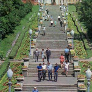 Лестница на площади Ленина. Липецк, 1975 год