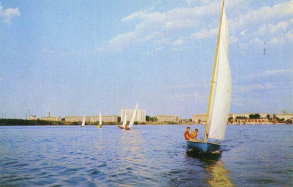 Липецкое озеро. Липецк, 1975 год