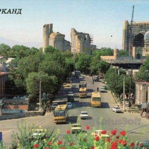 Ташкентская улица. Самарканд, 1989 год