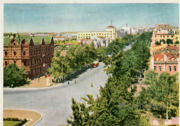 Улица Крала Маркса. Хабаровск, 1965 год