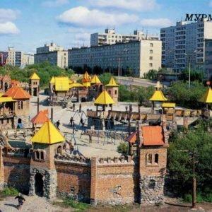 Детский городок в Ленинском районе. Мурманск, 1988 год