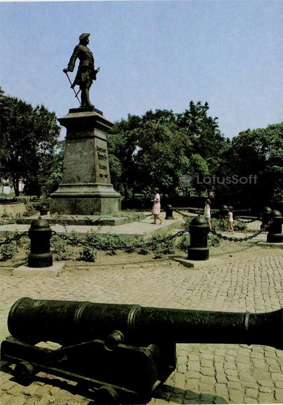 Памятник основателю города Петру I. Таганрог, 1989 год