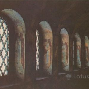Frescoes north gallery of the Church of the Resurrection in the Kremlin. Rostov Veliky, 1984
