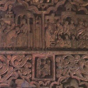 Фрагмент Царских врат из церкви Вознесения. Ростов Великий, 1984 год