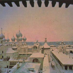panorama of the city. Rostov Veliky, 1984