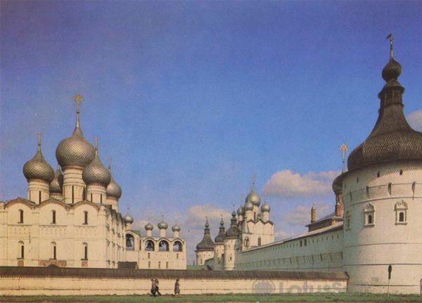 Вид на Успенский собор и звонницу. Ростов Великий, 1984 год