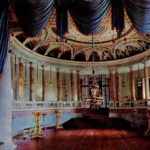 Зрительный зал театра. Дворец-музей Останкино, 1968 год