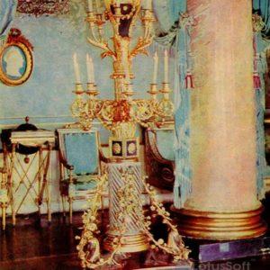 Резной золоченый торшер. Дворец-музей Останкино, 1968 год