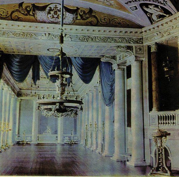 Сцена театра. Дворец-музей Останкино, 1968 год
