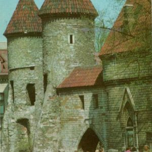 Наружные башни Вируских ворот. Таллин, 1973 год