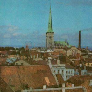 Панорама города. Таллин, 1973 год