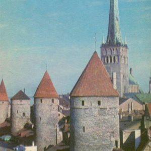 Башни Таллинского оборонительного пояса. Таллин, 1973 год