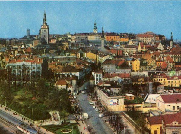 Центр города. Таллин, 1973 год