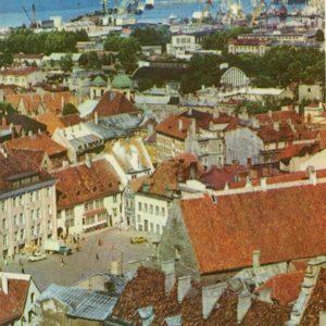 Вид на ратушную площадь. Таллин, 1978 год