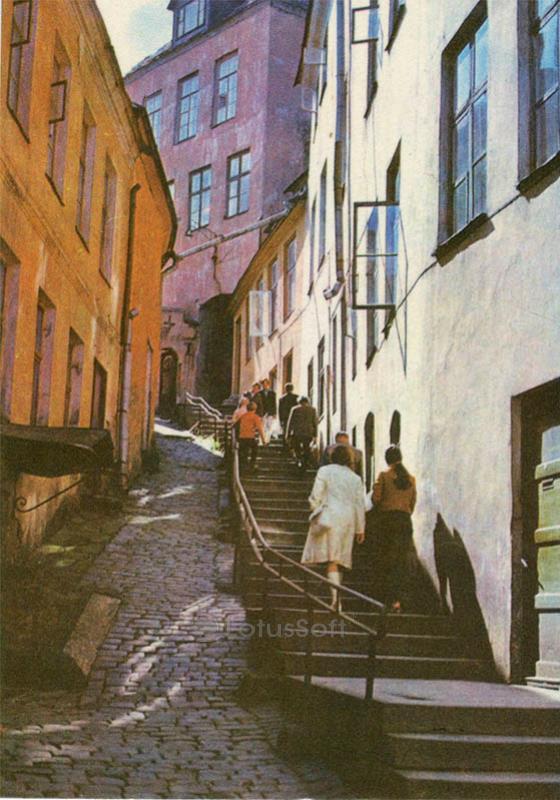Улочка Люхике. Таллин, 1978 год