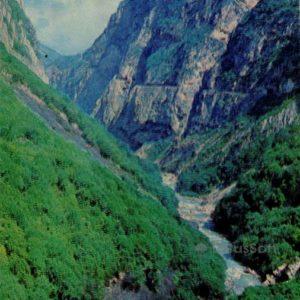 Cherek-Balkarian canyon. Kabardino-Balkaria, 1973