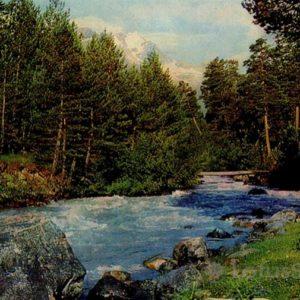 River Baksan. Kabardino-Balkaria, 1973