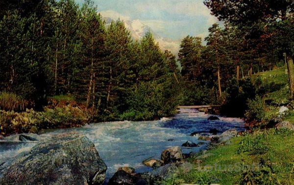 Река Баксан. Кабардино-Балкария, 1973 год