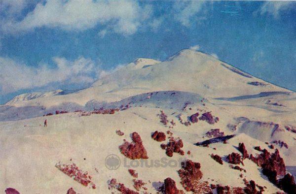Гора Эльбрус. Кабардино-Балкария, 1973 год