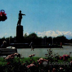 Nalchik, a monument to VI Lenin, in 1973