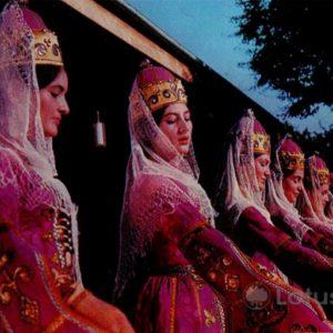 "Ансамбль народного танца ""Кабардинка"". Кабардино-Балкария, 1973 год"