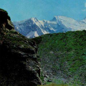 Верховье ущелья Адыл-су. Кабардино-Балкария, 1973 год