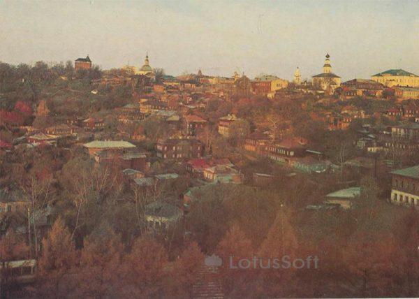 Вид на городскую застройку. Владимир, 1986 год