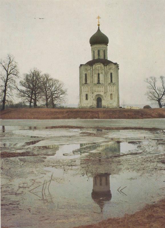 Церковь Покрова на Нерли близь села Боголюбово. Владимир, 1986 год