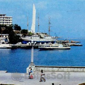 at Artillery Bay View and Cape Crystal. Sevastopol, 1985