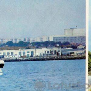 Вид на город с моря. Севастополь, 1985 год
