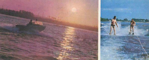 Отдых на Зейском море. Зейская ГЭС, 1978 год