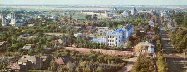 Вид на город с северо-западной стороны. Суздаль, 1978 год