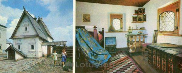Посадский дом. Светелка в посадском доме. Суздаль, 1978 год
